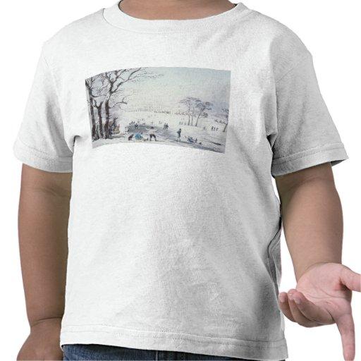 Vista de la casa de Buckingham, parque de James en Camisetas