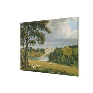 Vista de la casa de Burghley asiento del marqués Impresión En Lona