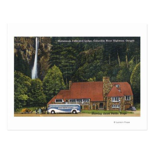 Vista de la casa de campo de las caídas de postal