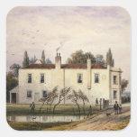 Vista de la casa de Copenhague, 1853 Pegatina Cuadrada