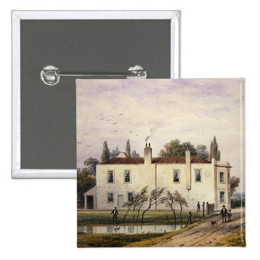 Vista de la casa de Copenhague, 1853 Pin Cuadrado