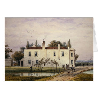 Vista de la casa de Copenhague, 1853 Tarjeta De Felicitación