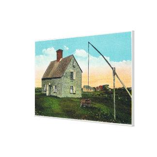 Vista de la casa del ataúd, más vieja en la isla lienzo envuelto para galerias