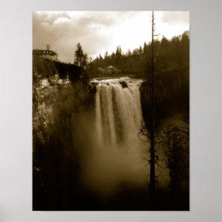 Vista de la cascada impresiones