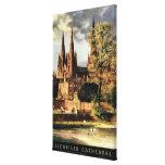 Vista de la catedral de Lichfield Lienzo Envuelto Para Galerias