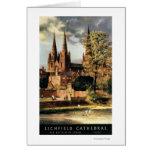 Vista de la catedral de Lichfield Tarjeta De Felicitación