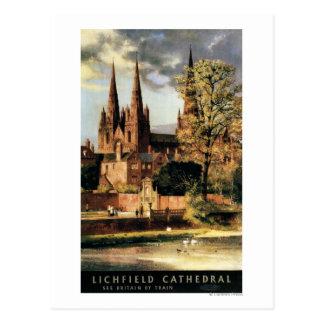 Vista de la catedral de Lichfield Tarjeta Postal