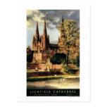 Vista de la catedral de Lichfield Tarjetas Postales