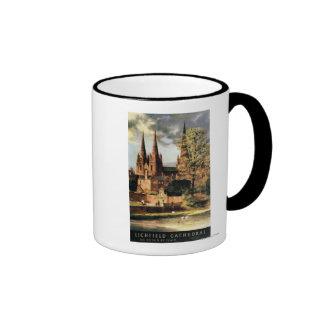 Vista de la catedral de Lichfield Taza De Café