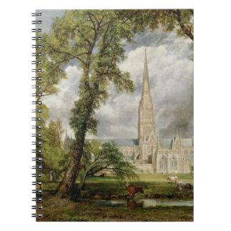 Vista de la catedral de Salisbury de Grou del obis Spiral Notebooks
