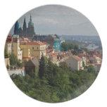 Vista de la catedral de Vitus del santo, Praga, ch Plato De Cena