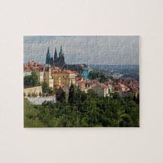 Vista de la catedral de Vitus del santo, Praga, ch Puzzles Con Fotos