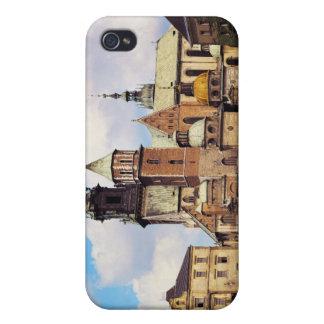 Vista de la catedral de Wawel iPhone 4 Carcasas