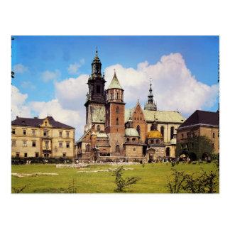 Vista de la catedral de Wawel Postal