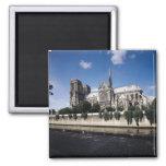 Vista de la catedral del Sena, 1163-1345 Imán Para Frigorifico