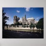 Vista de la catedral del Sena, 1163-1345 Póster