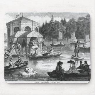 Vista de la charca de la corte en Fontainebleau Tapetes De Ratones