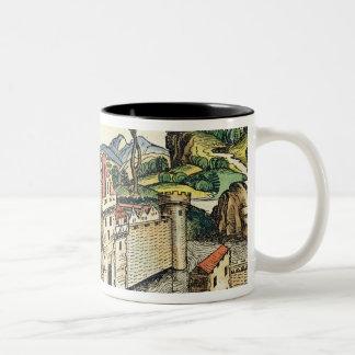 Vista de la ciudad antigua de Babilonia, del Nure Tazas De Café