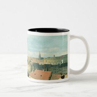 Vista de la ciudad de Berlín con el museo de Altes Tazas De Café
