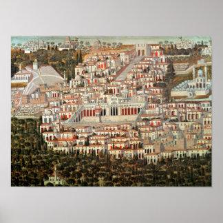 Vista de la ciudad de Damasco Posters