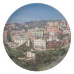 Vista de la ciudad de Génova Platos Para Fiestas