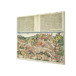 Vista de la ciudad de Roma, de la Nuremberg Chron Impresión En Lienzo Estirada