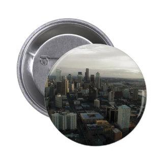 Vista de la ciudad de Seattle del top de la aguja  Pins