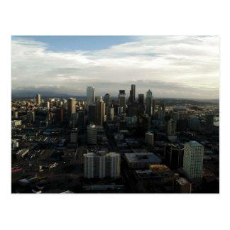 Vista de la ciudad de Seattle del top de la aguja  Tarjeta Postal