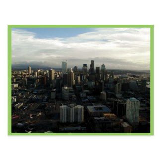 Vista de la ciudad de Seattle del top de la aguja  Tarjetas Postales