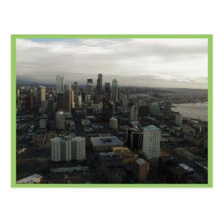 Vista de la ciudad de Seattle del top de la aguja  Postal