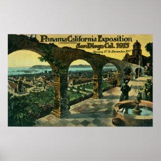 Vista de la ciudad de una misión, expo de Panamá-C Impresiones