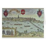 Vista de la ciudad de Varsovia al lado del río Vis Tarjeta De Felicitación