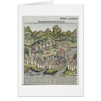 Vista de la ciudad emparedada de Constantinopla, d Tarjeta De Felicitación