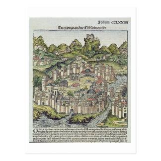 Vista de la ciudad emparedada de Constantinopla, Tarjetas Postales