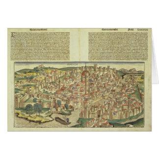 Vista de la ciudad emparedada de Florencia, del Nu Tarjeta De Felicitación