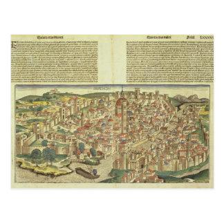 Vista de la ciudad emparedada de Florencia, del Postal