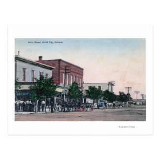 Vista de la ciudad principal de StreetScott, KS Postal