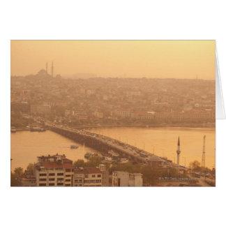 Vista de la ciudad tarjeta de felicitación