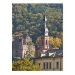 Vista de la ciudad vieja 2 de Heidelberg Tarjeta Postal