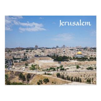 Vista de la ciudad vieja de Jerusalén, Israel Tarjetas Postales