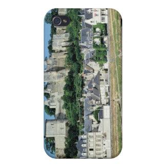 Vista de la ciudad y del castillo iPhone 4 funda
