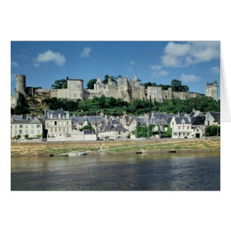 Vista de la ciudad y del castillo tarjeta de felicitación