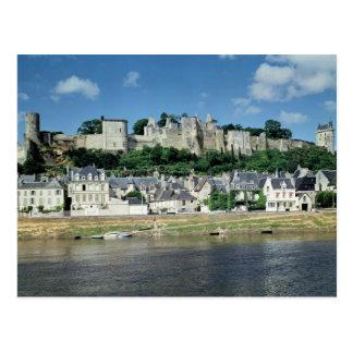 Vista de la ciudad y del castillo tarjeta postal