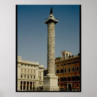 Vista de la columna de Trajan, ANUNCIO 113 Posters