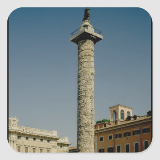 Vista de la columna de Trajan, ANUNCIO 113 Pegatina Cuadrada