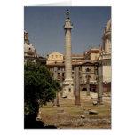 Vista de la columna de Trajan, ANUNCIO 113 Tarjetón