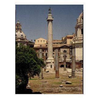 Vista de la columna de Trajan ANUNCIO 113 Postales