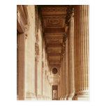 Vista de la columnata del Louvre Tarjeta Postal