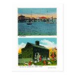 Vista de la costa, cabaña vieja de la hiedra en li postales