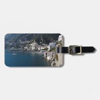 Vista de la costa de Amalfi Etiquetas Para Equipaje